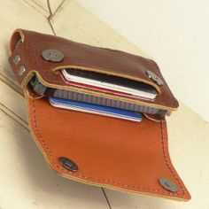 12 Card Wallet for iPhone 5 with 2 Card Pockets, 2 Magnet Snaps, Belt Clip with Full Flap