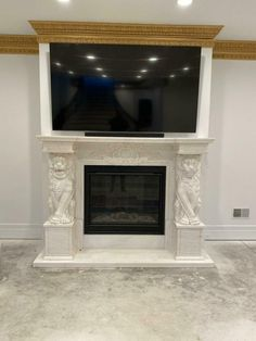 BEAUTIFUL HAND CARVED LION ESTATE MASSIVE FIREPLACE MANTEL - FAM7 #Unbranded #Victorian