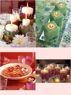 Candles make beautiful and cheap wedding decorations