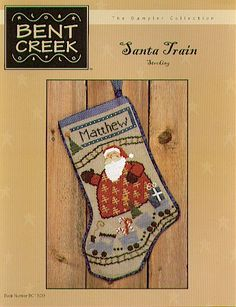 Santa Train Stocking - great Cross Stitch Patterns, made this one for Henry