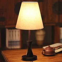 AMOS Modern Minimalist Bedroom With Bedside Lamp And Living Room Lighting ( Color : Brown , Size : ) Office Lighting, Dim Lighting, Living Room Lighting, Modern Minimalist Bedroom, Minimalist Fashion, Wooden Table Lamps, Lamps For Sale, Desk Light, Bedside Lamp