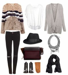 What I want to wear right now: - Pull & Bear faux fur coat - H&M Isabel Marant Linen Shirt (Check) - Chunky cardigan  - H&M Wool hat (Soon) - Zara bag (Check) - New Look leather boots (soon) - H&M leather gloves (soon) - Zara Necklace - Huge black scarf