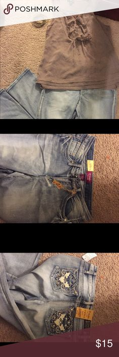 pants pants size 7 and brown shirt. Jeans Boot Cut