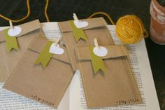 These adorable mini envelopes are made from recycled paper bags. They are each about 4.5 x 3.5. I love using these for many different things...