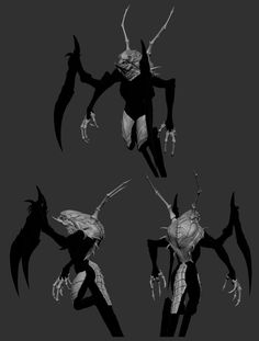Highlights what specifically makes Phantom Wraith different visually from Wraith. Her claws looks more boney same thing with her spines. This is a work in progress tho. Greek Monsters, Zbrush, Concept Art, Batman, Fantasy, Superhero, Claws, Highlights, Movie Posters