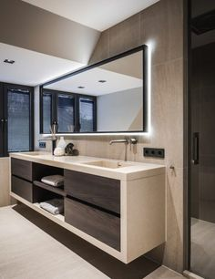 21 Bathroom Cabinet Ideas for A Minimalist Bathroom. Incredible Bathroom Cabine 21 Bathroom Cabinet Ideas for A Minimalist Bathroom. Modern Bathroom Design, Bathroom Interior Design, Modern Interior Design, Modern Bathrooms, Minimalist Bathroom Design, Restroom Design, Tiny Bathrooms, Bathroom Designs, Luxury Interior