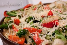 Pasta Primavera Pie - with Broccoli and Peppers