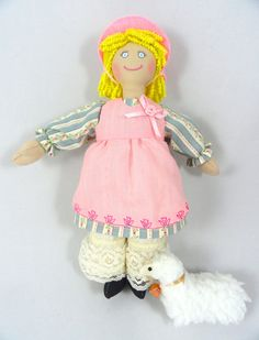 """""""Little Bo Peep Doll And Her Sheep by JoellesDolls on Etsy what a great #gift for girls of all ages :)"""""""