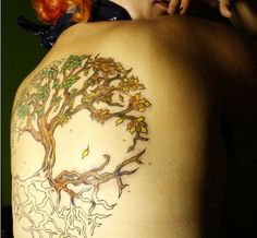 Gorgeous tree of life tattoo  *Sigh* One day.