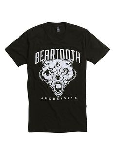 Beartooth Agressive Wolf Logo T-Shirt 063e64074