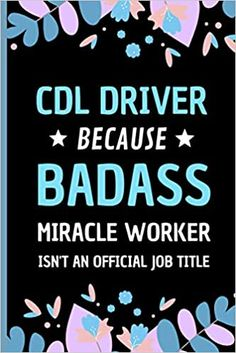 Amazon.com: CDL Driver Because Badass Miracle Worker Isn't An Official Job Title: Funny Notebook Gift for CDL Driver - Adorable Journal Present for Men and Women (9798558434149): Press, Sweetish Taste: Books Transportation Jobs, Bus Driver Gifts, Taxi Driver, Presents For Men, Job Title, Kids Boxing, Dog Gifts, Book Club Books, Book Recommendations