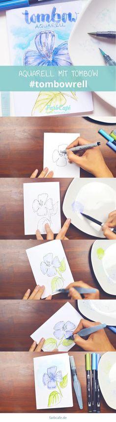 Tombows kann man kreativ einsetzen um zu illustrieren, zu lettern und auch um damit zu aquarellieren. Ich zeig dir wie du ein Tombowrell selbst machst.