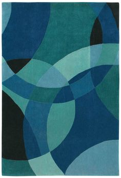 Shaw Loft Nightlife Blue (14400) Area Rugs