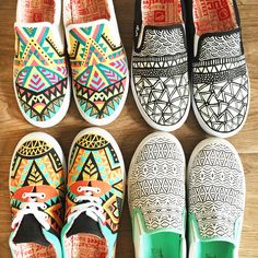 My @bucketfeet collection by Pom Graphic Design #bucketfeet #customshoes #handpainted #shoes #pomgraphicdesign
