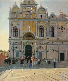 Scuola Grande di San Marco, Venice in Annual Exhibition 2016 at Thompson's Gallery Aldeburgh Ken Howard, Bonnard, Venice Painting, Watercolor Art Lessons, Late Middle Ages, Bobe, Royal College Of Art, Art Club, Impressionist