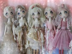 Shabby Chic Urchin Art Dolls by Vicki at Lilliput Loft