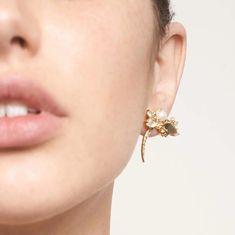 Butterfly Rosette Set in Yellow Gold – Anna Sheffield Jewelry Rutilated Quartz, Labradorite, Flying Flowers, Pearl Earrings, Drop Earrings, Butterfly Earrings, Anna Sheffield, Fine Jewelry, Jewels