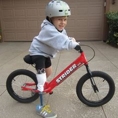 And away we go...........my sporties love their Strider Bike