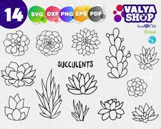 printable free stained glass succulent pattern - Google Search Stained Glass Projects, Stained Glass Patterns, Succulent Images, Glass Cactus, School Images, Cricut Tutorials, Floral Illustrations, Plant Design, Christmas Svg