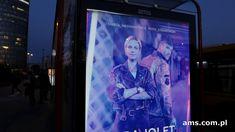 Ultra Violet AXN z drukiem soczewkowym na Premium Citylight AMS Ultra Violet
