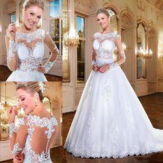via sposa long sleeve wedding dress,elegant and beautiful.