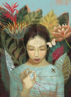 "Anna + Elena Balbusso illustration ""L'Elue"" by Lois Lowry"