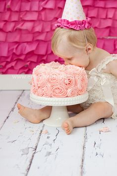 I love this cake... and the ruffly background is really cute. I don't have one like that, but I'm not against trying to create it! I'm always up for something new! :)