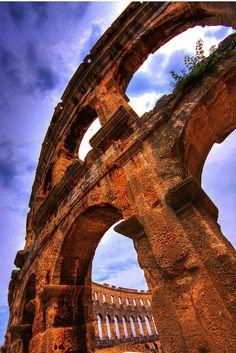Pula Amphitheater, Istarska, HR  ~by Pétursey, via Flickr