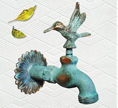 Brass Hummingbird Faucet