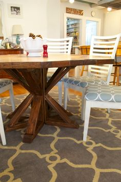After fixing the poly problem , we were officially finished building the main part of our Restoration Hardware inspired dining table. We st...