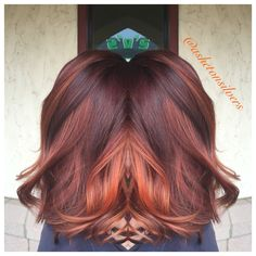 Violet and copper balayage by Asheton Silvers