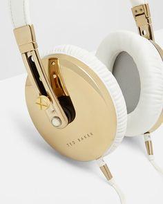 Over ear headphones - White | Gifts for him | Ted Baker UK