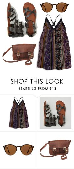 """""""Untitled #23"""" by jo-dude ❤ liked on Polyvore featuring Forever 21, American Eagle Outfitters, Ray-Ban and NOVICA"""