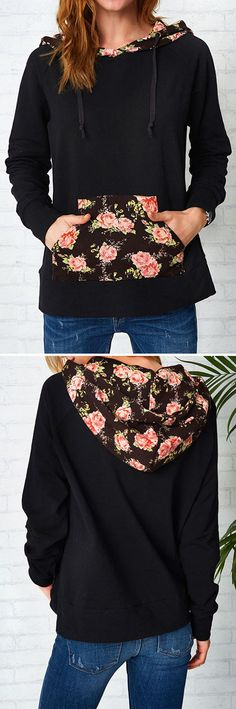 $25.99&one week delivery Only! We love the romantic feel of this sweatshirt! High-quality with absolutely cozy feel! Get some flowers now. For more stylish items at Cupshe.com !