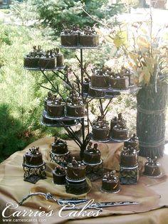 Chocolate Mini Cake Tree - Carrie's Cakes