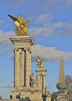 París, Francia, Pont Alexandre Iii, Monumentos