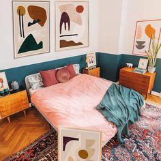 Cheap Home Decor .Cheap Home Decor Bohemian Bedroom Design, Bedroom Designs, Bohemian Decor, Aesthetic Rooms, Home Decor Bedroom, Bedroom Furniture, Arty Bedroom, Bedroom Ideas, Modern Bedroom