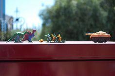 Dinosaur vs Tank!