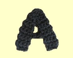 Good, simple, easy to understand instructions on crocheted letters, capitalized and lower-case.