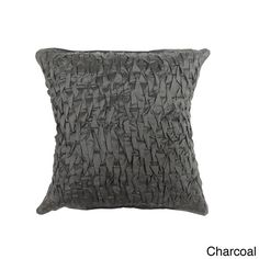 Cottage Home Jayla Silk Decorative Pillow (Sage Green), Size 18 x 18 (Cotton, Solid Color)