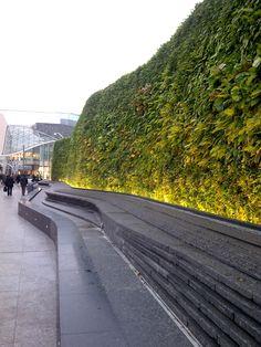 Green wall, Westfield Shopping Centre, London