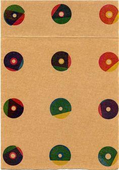 Karel Martens. 1996. Recherche pour la couverture des Imprimés. Letterpress sur carton mince