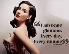 """Dita von Teese epitomized glamour at all time. """"I advocate glamour, every day, every minute>"""" Dita von Teese quote. Dita Von Teese Burlesque, Dita Von Teese Makeup, Dita Von Tease, Idda Van Munster, Sonia Kashuk, Fashion Mode, Old Hollywood Glamour, Mode Vintage, Classy And Fabulous"""