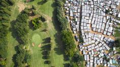 """For his new project """"Unequal Scenes"""" Cape Town-based photographer Johnny Miller used a drone to show the inequality that exists in the Republic of South Africa. Golf Photography, Photography Projects, Landscape Photography, Drones, Drone Quadcopter, Apartheid, Fotografia Drone, Kenya, Tanzania"""