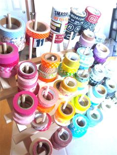 Great way to store Washi tape