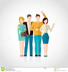 friends-flat-illustration-concept-four-men-women-figures-hugging-isolated-white-background-vector-51828160.jpg (1300×1390)