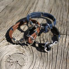 Anchor bracelet Nautical leather bracelet New by byMarisSal