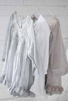 linen shirts  (Lovely - I'm imagining in a soft brushed lawn cloth or chamois - meke)