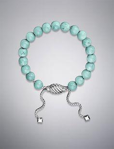 David Yurman Turquoise Spiritual Bead Bracelet... Gorgeous!!
