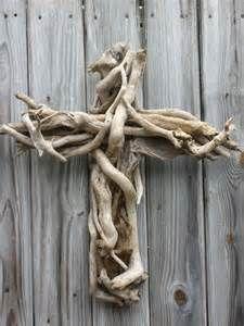 driftwood cross   Craft Ideas   Pinterest